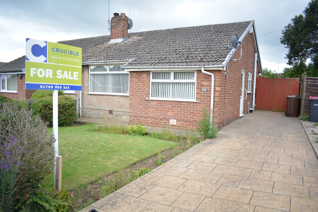 Two Bedroom Semi Detached Bungalow for sale in Bramley, Rotherham, S6