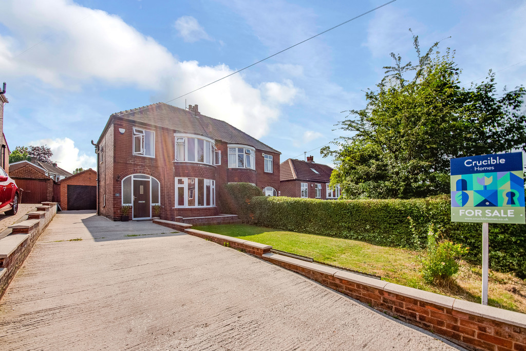 Three bedroom semi detached home for sale in The Brecks, Rotherham, S6