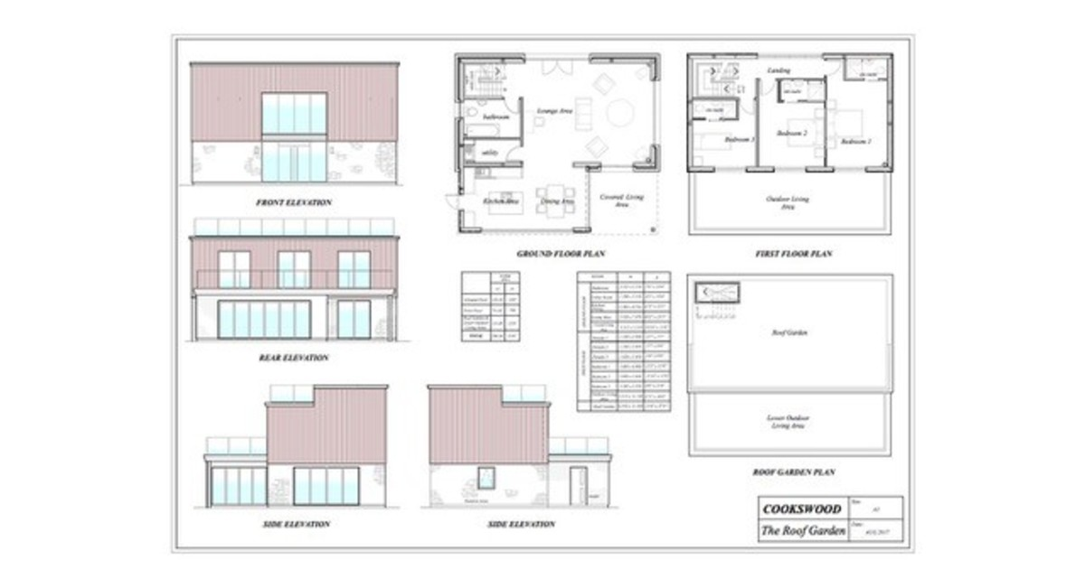 Roof Garden, Cookswood, Somerset floorplan