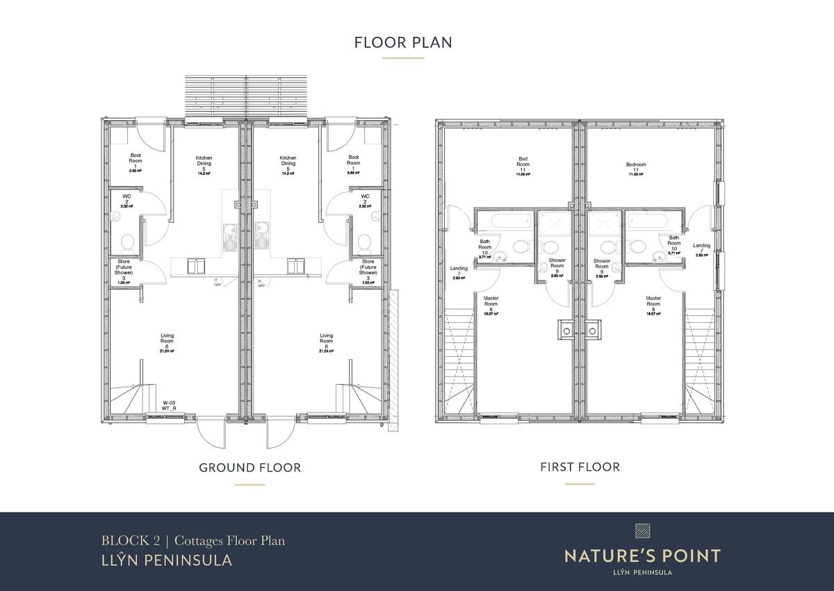 Nature's Point 2 Bedroom Cottage (New Build) floorplan