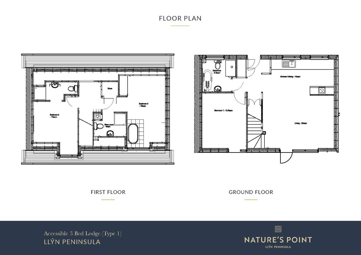 Nature's Point 3 Bedroom Cottage (New Build) floorplan