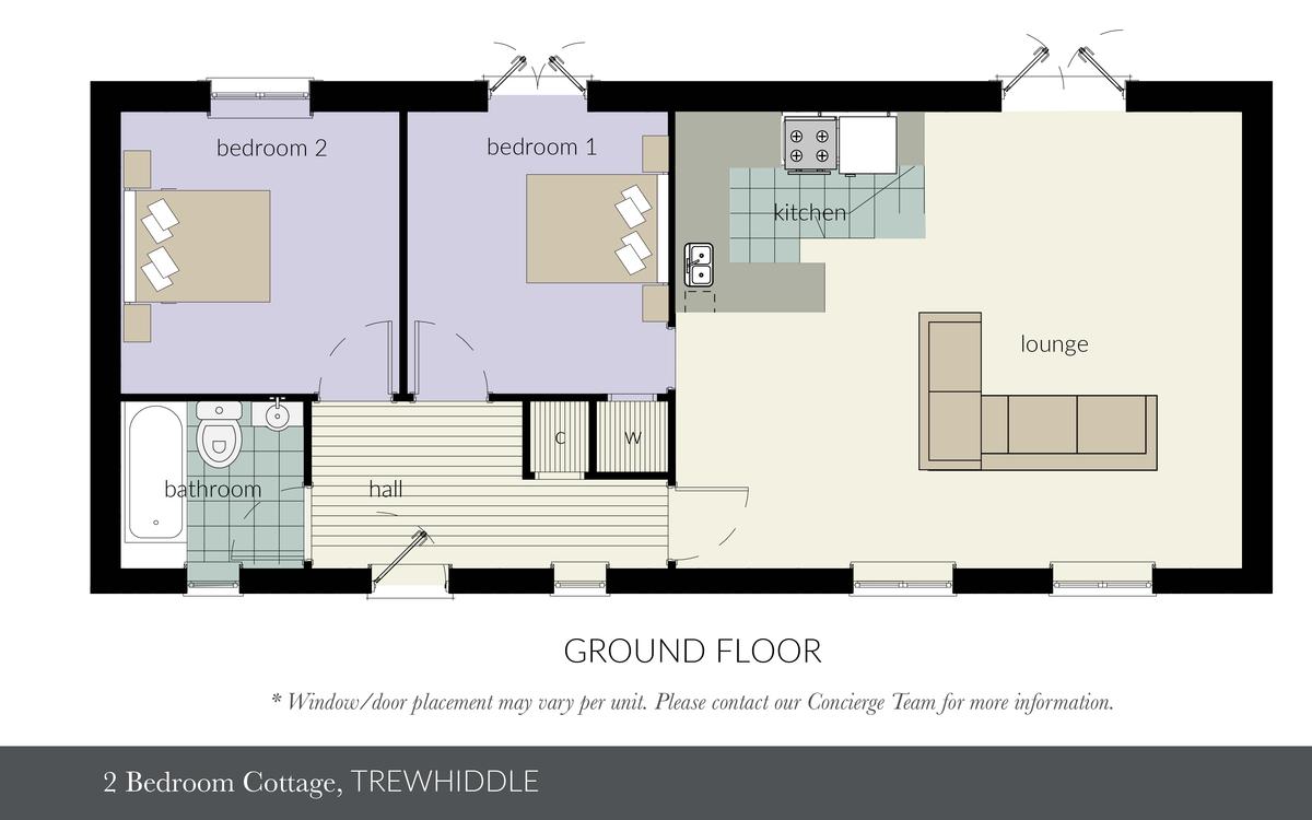 Trewhiddle Village, 2 Bed Cottage, Cornwall (New Build) floorplan