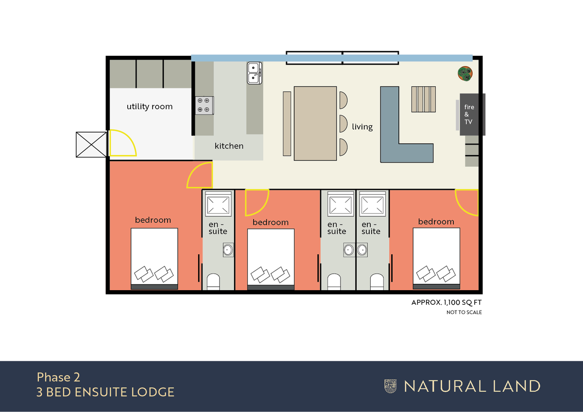 Yorkshire Dales, 3 Bedroom Lodge, Richmond, DL10 (New Build) floorplan