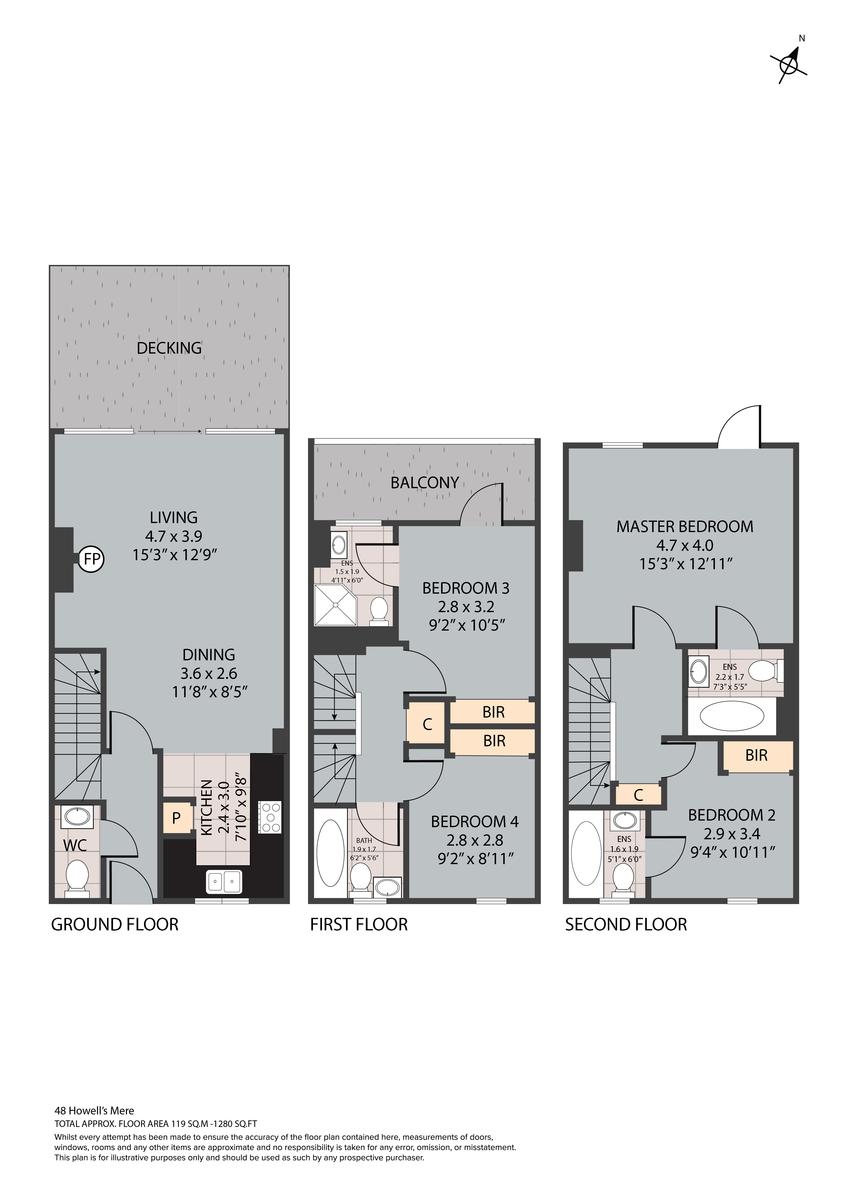 48 Howells Mere, GL7 floorplan