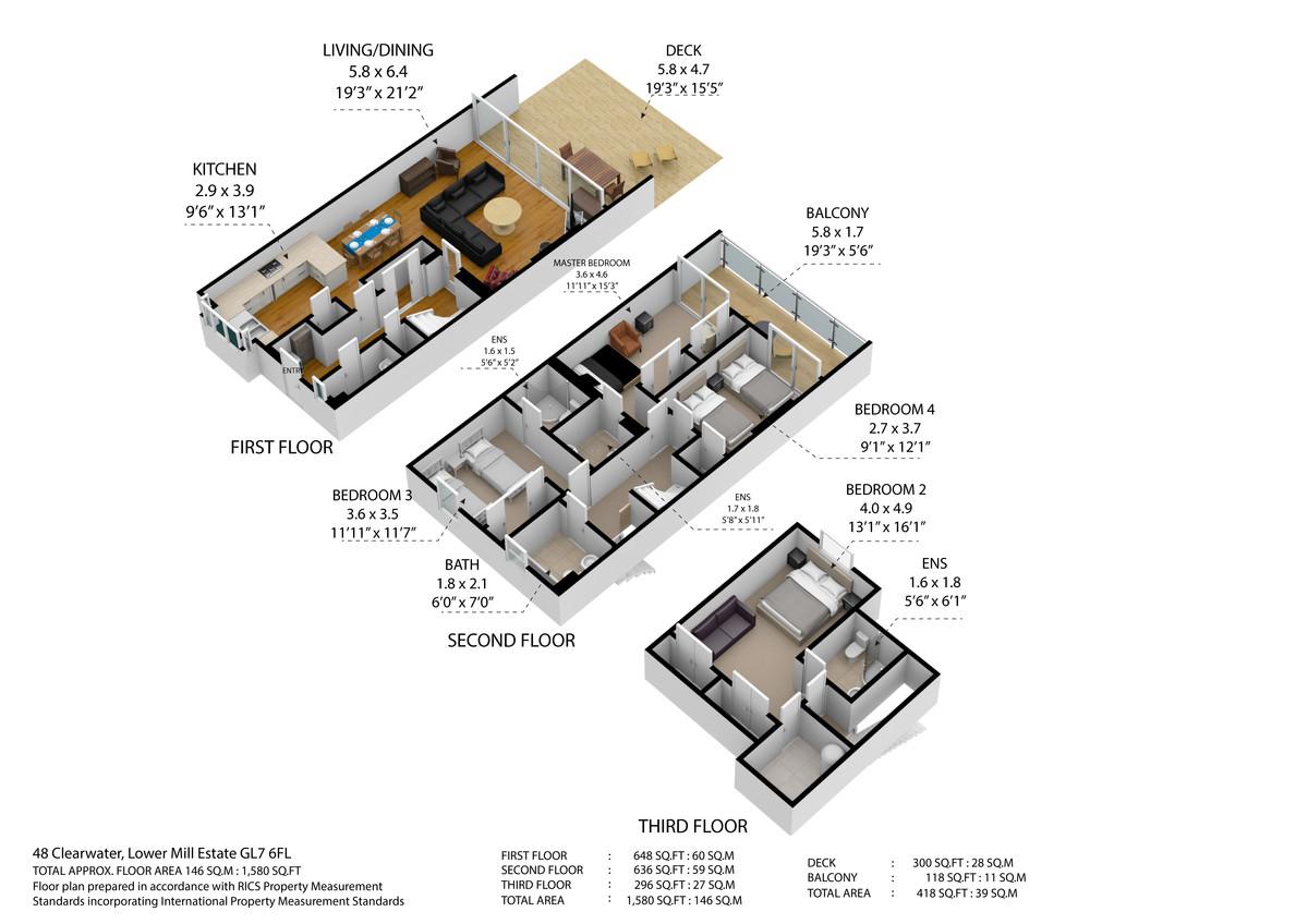 48 Clearwater, The Lower Mill Estate, GL7 6BG floorplan