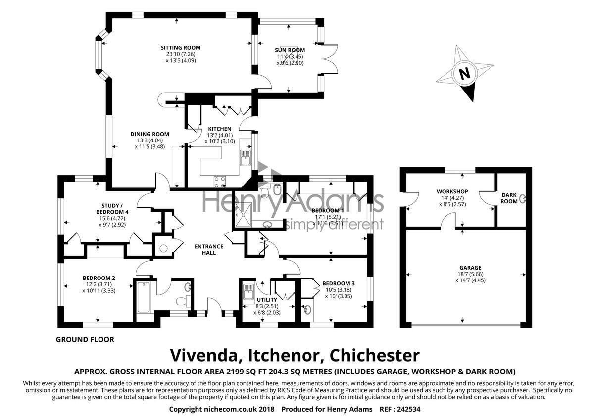 Itchenor, West Sussex floorplan