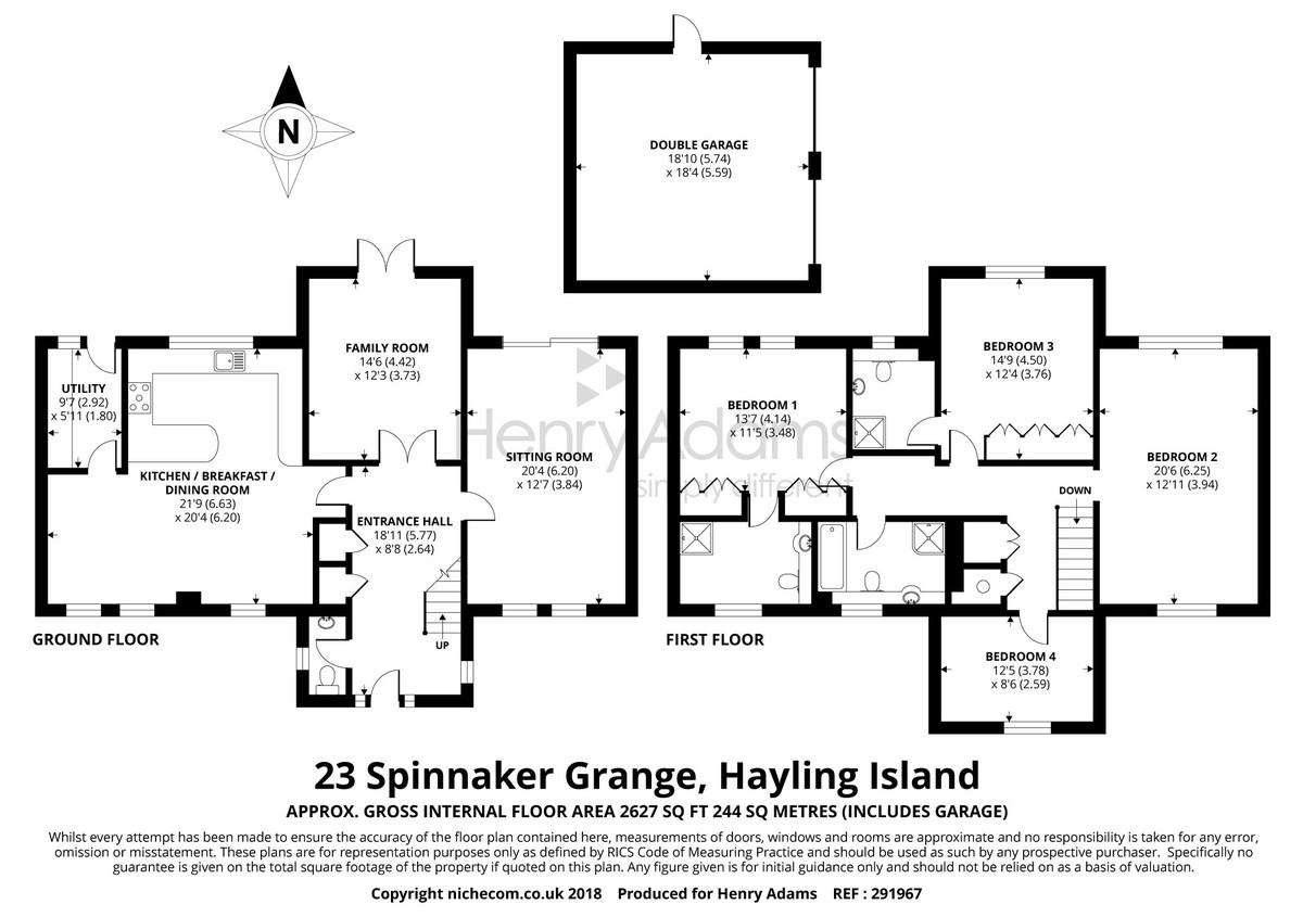Spinnaker Grange, Northney floorplan