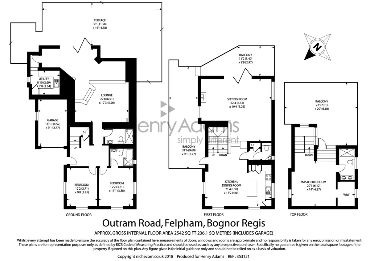 Outram Road, Felpham floorplan