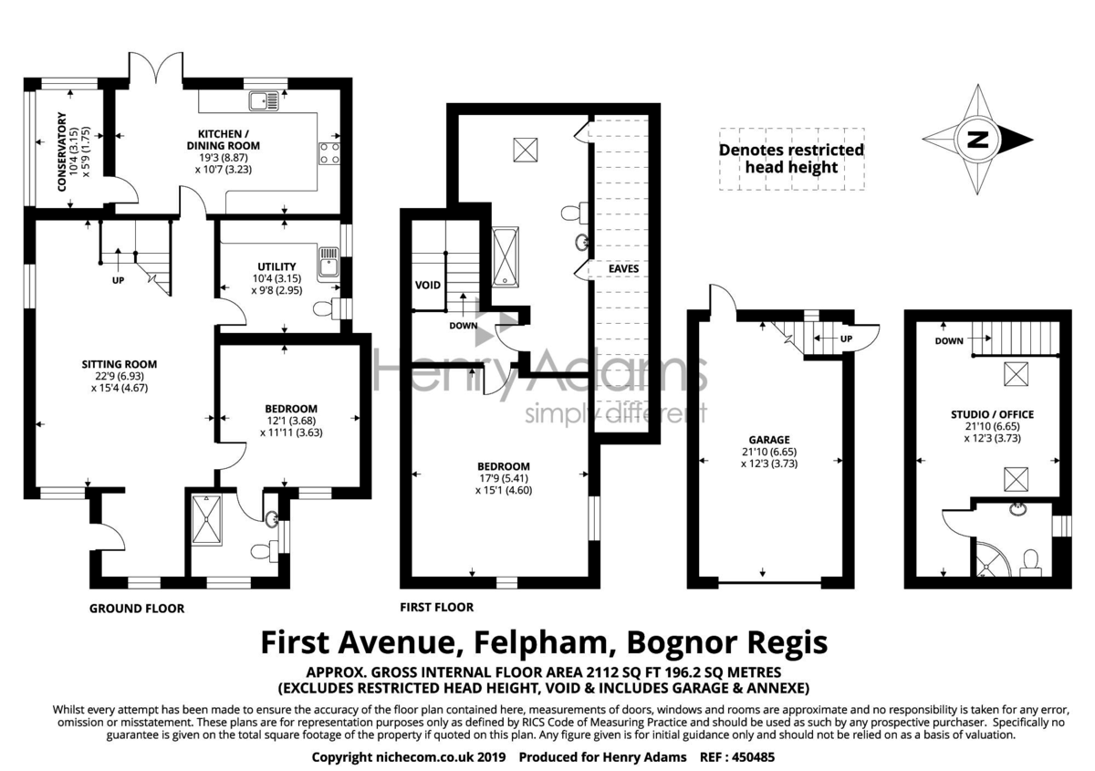 First Avenue, Felpham floorplan