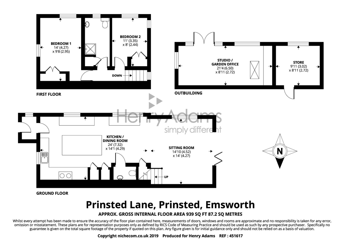 Fairview Cottages, Prinsted Lane floorplan