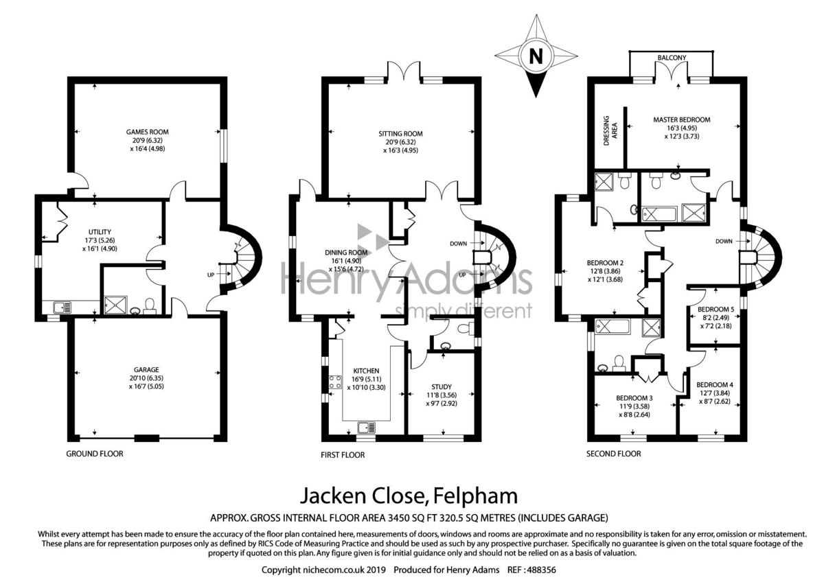 Jacken Close, Felpham floorplan