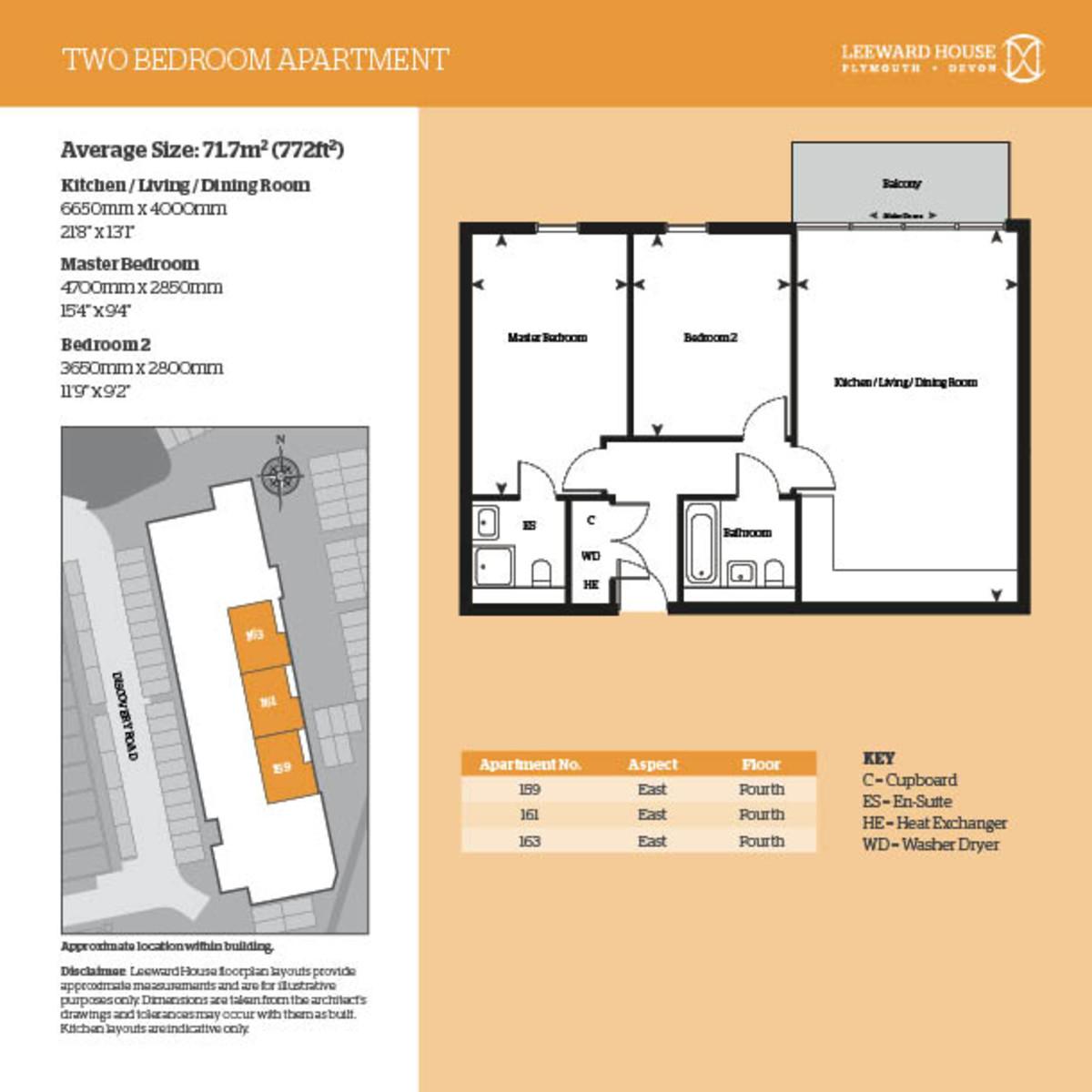 Leeward House, 159 Discovery Road Floorplan