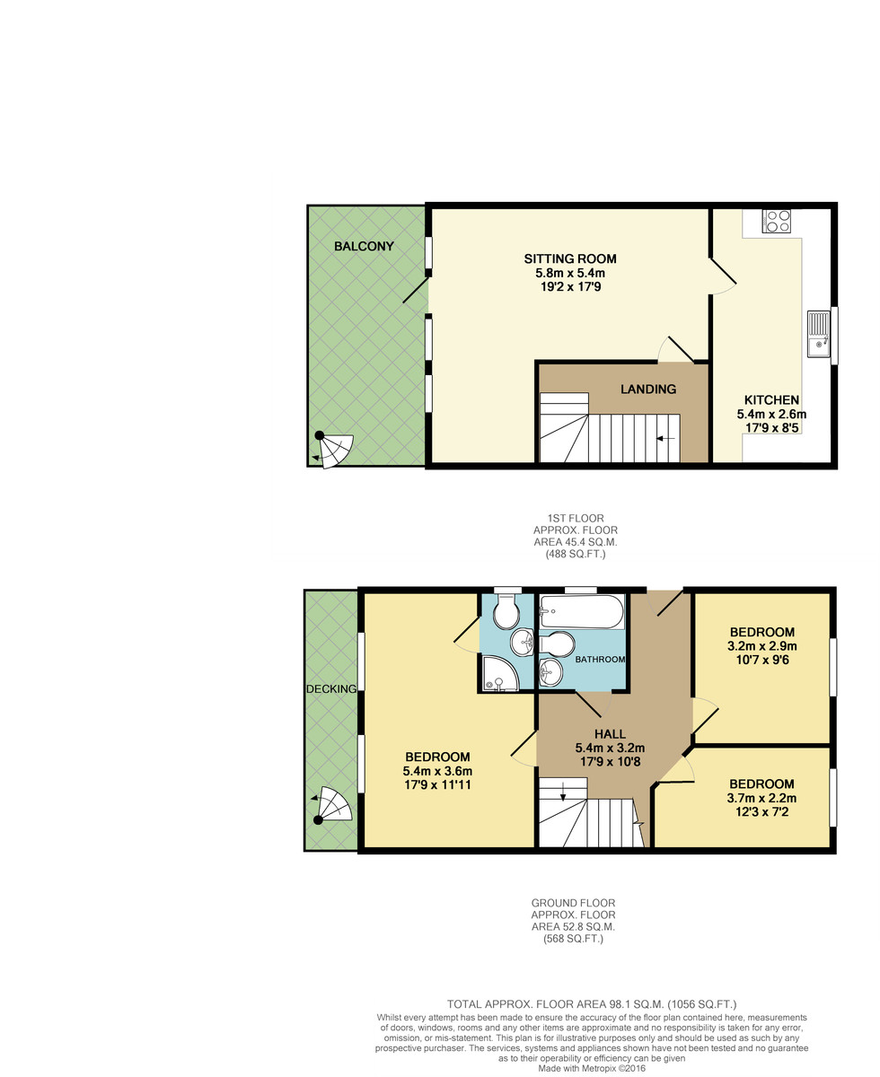 New Road, Wootton floorplan