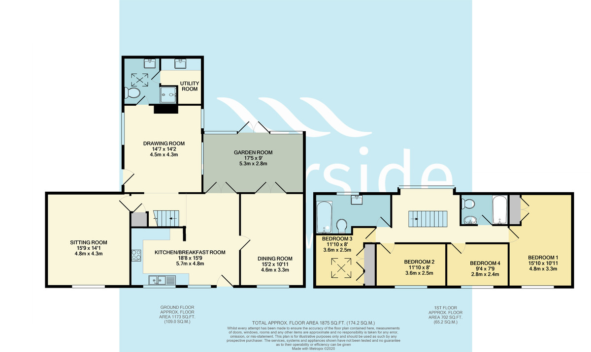Rew Street Farm Cottage floorplan