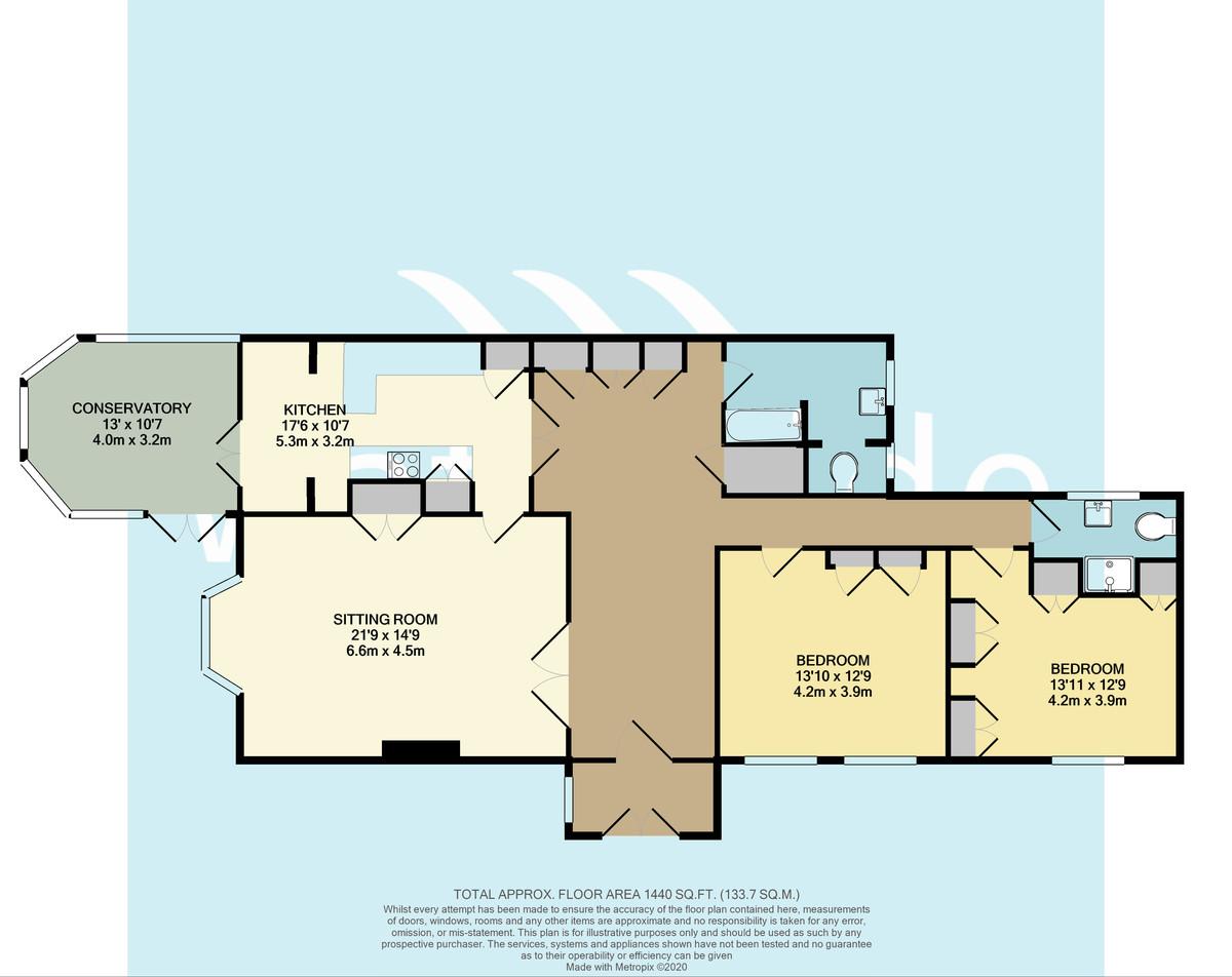 2 Bedroom apartment plus 2 Bedroom Cottage, Circular Road, Seaview floorplan