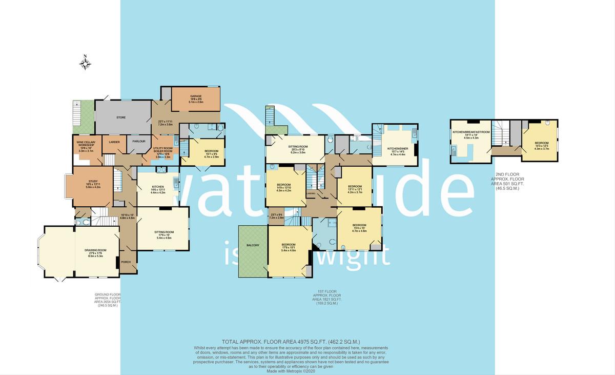 Shalfleet House, Shalfleet floorplan