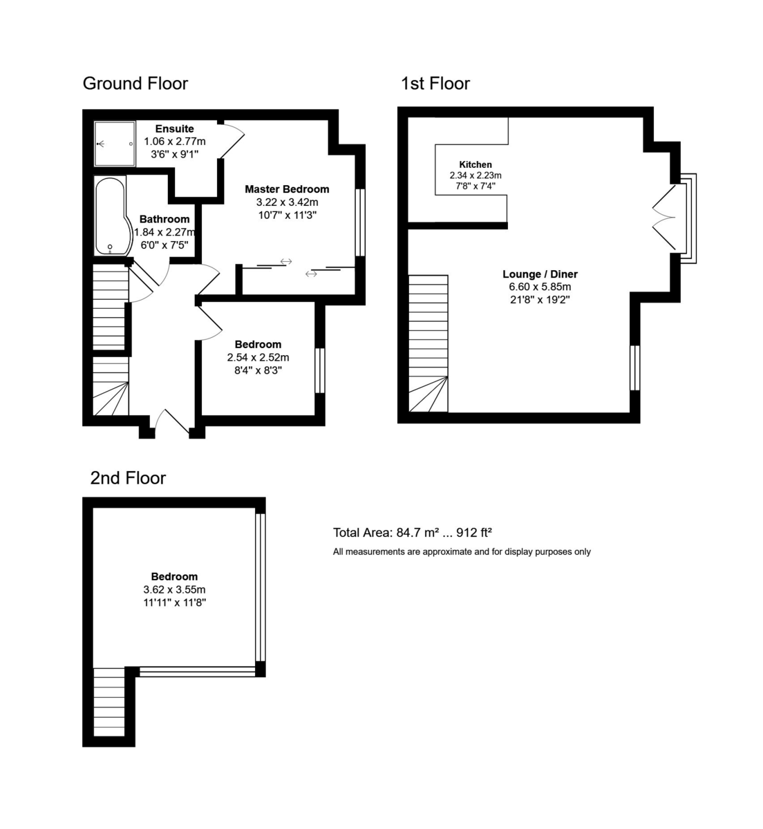 Cluster View, 49a St Catherine's Road, Southbourne, Dorset, BH6 4AQ floorplan