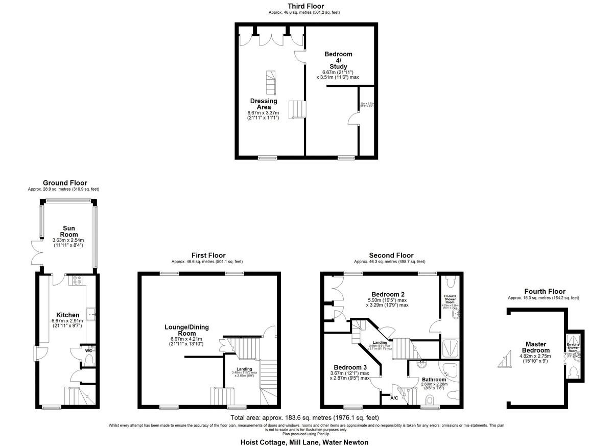 Hoist Cottage, Water Newton, Cambridgeshire floorplan
