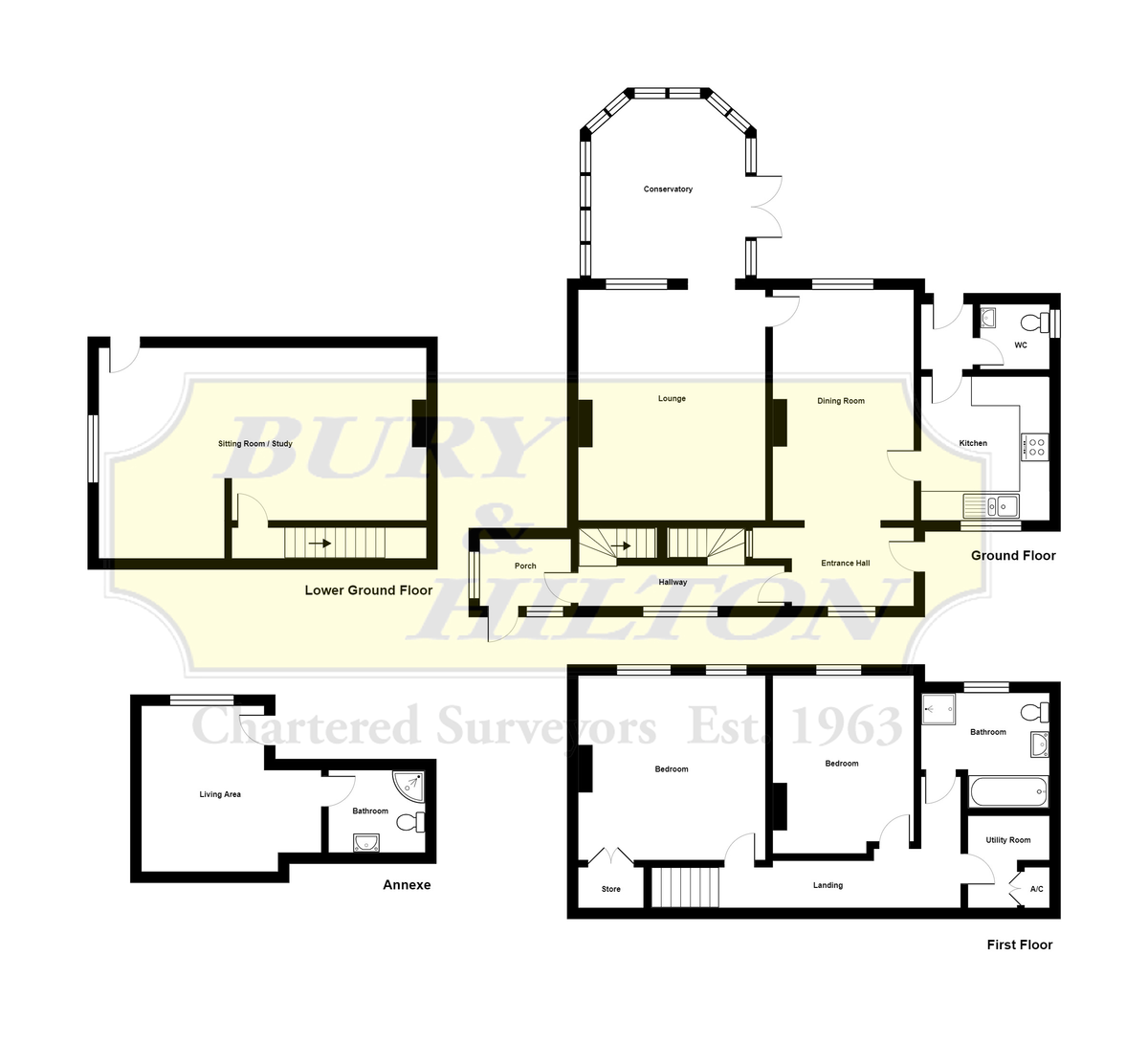 Canal Cottage, Denford, Staffordshire floorplan