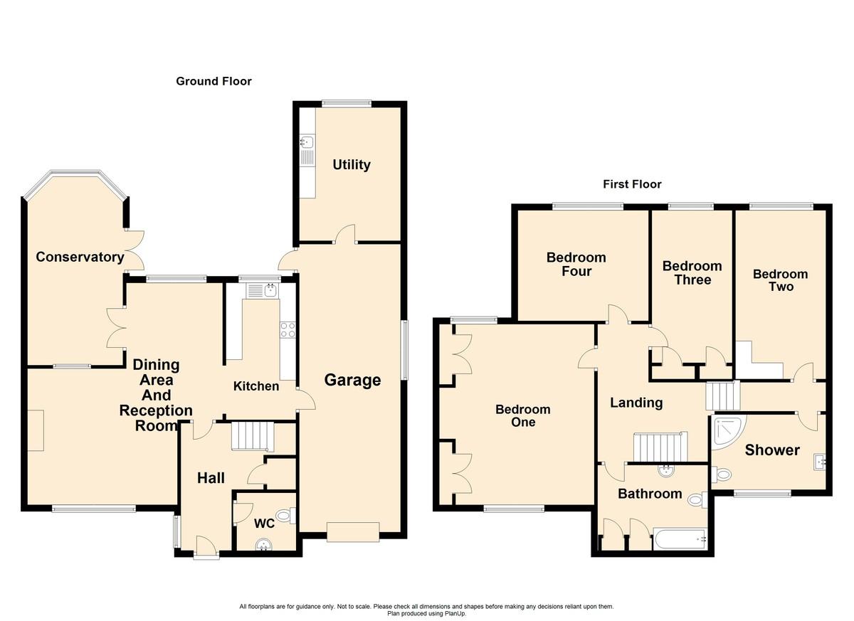 4 Bedroom Detached House To Rent - Floorplan 1