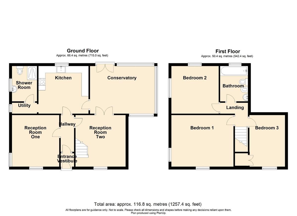 3 Bedroom Detached House To Rent - Floorplan 1