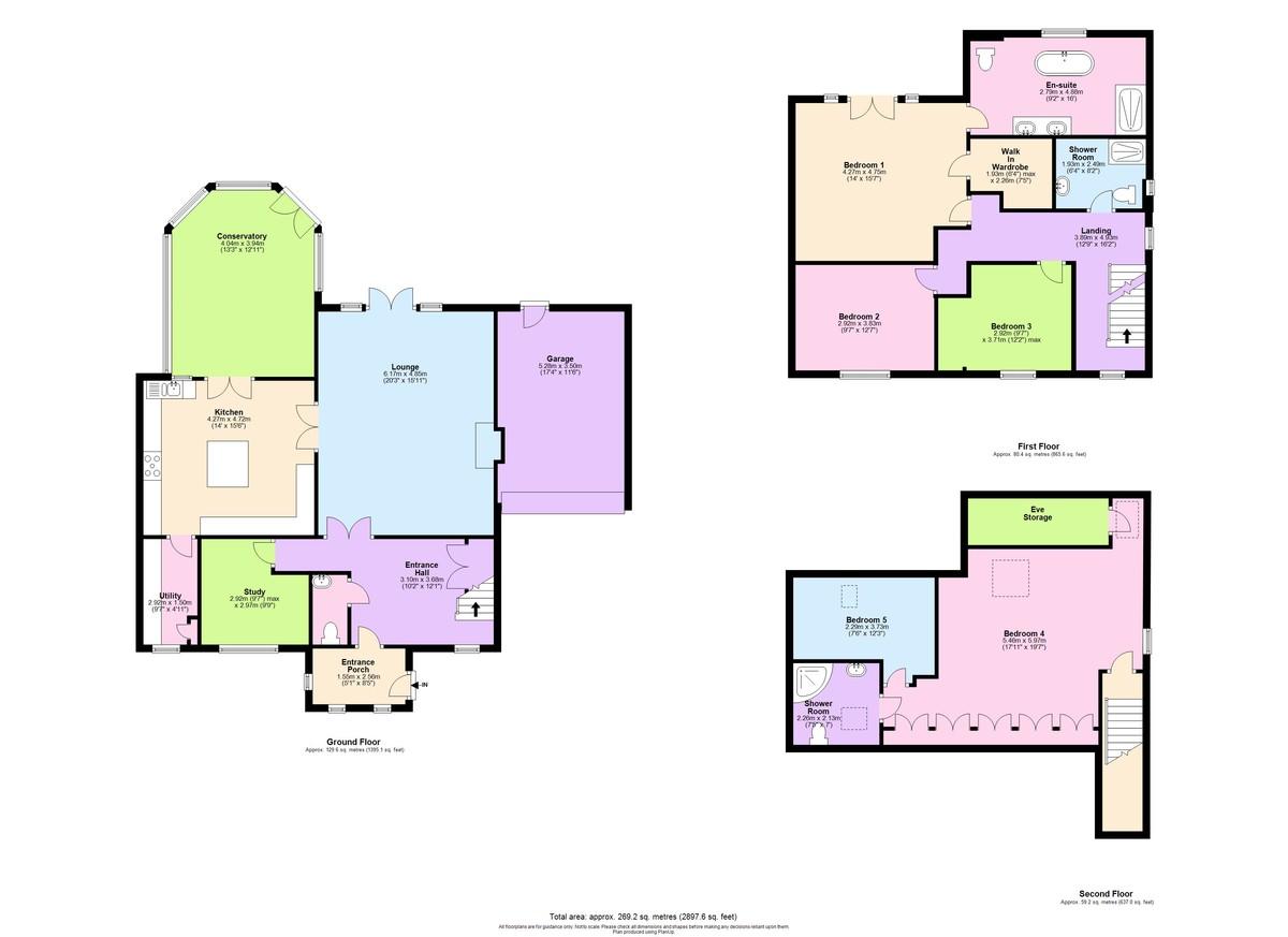 5 Bedroom Detached House To Rent - Floorplan 1