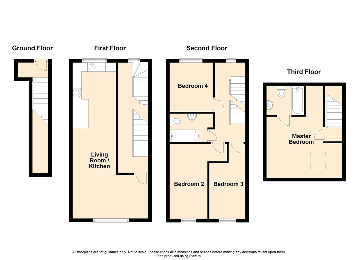 4 Bedroom Apartment Flat To Rent - Floorplan 1