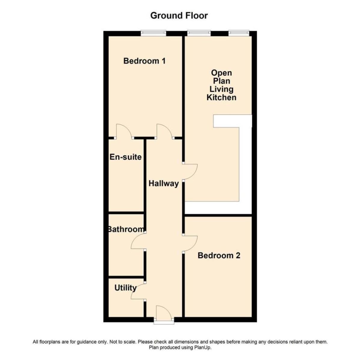 2 Bedroom Apartment Flat To Rent - Floorplan 1