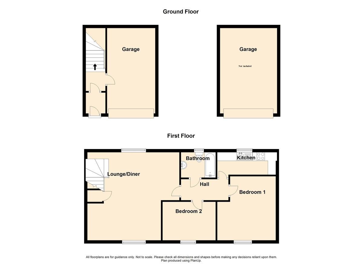 2 Bedroom Detached House To Rent - Floorplan 1
