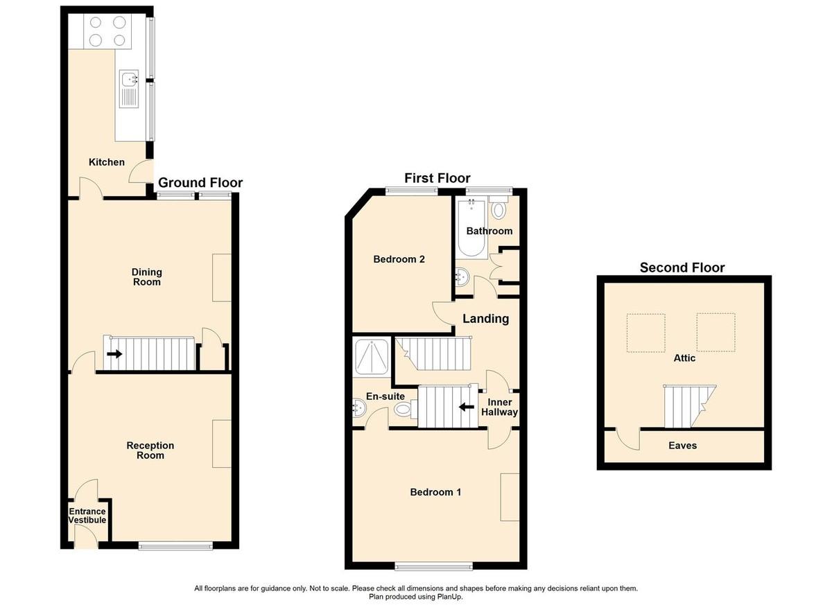 3 Bedroom Mid Terraced House To Rent - Floorplan 1
