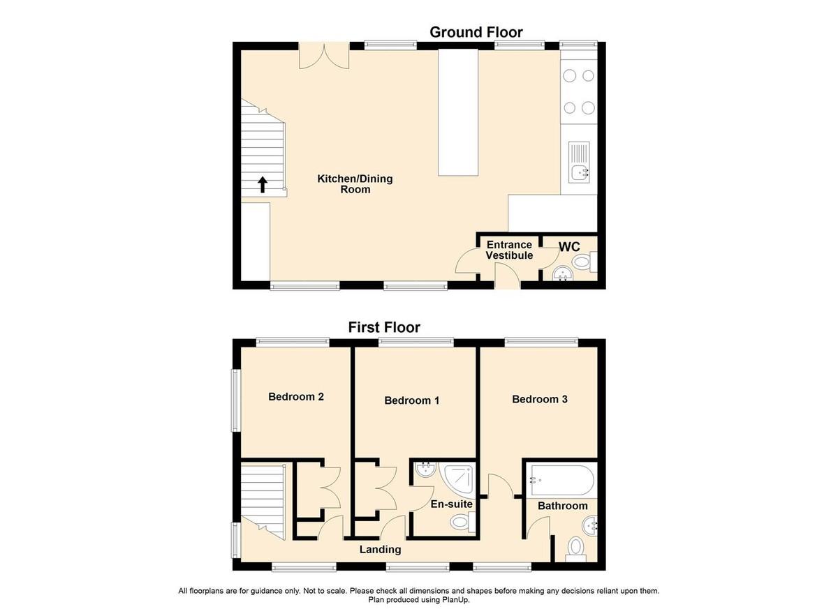 3 Bedroom Barn Conversion House To Rent - Floorplan 1