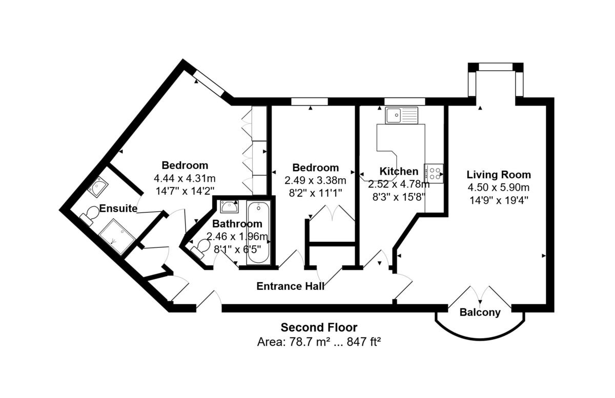 Portside, Brighton Marina Village floorplan