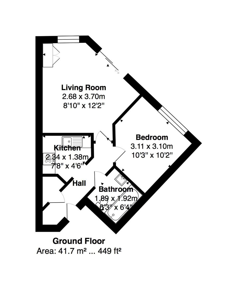 Sovereign Court, Brighton Marina Village floorplan