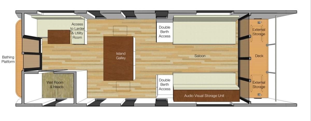 The Boat House, Sandhills Meadow, Shepperton floorplan