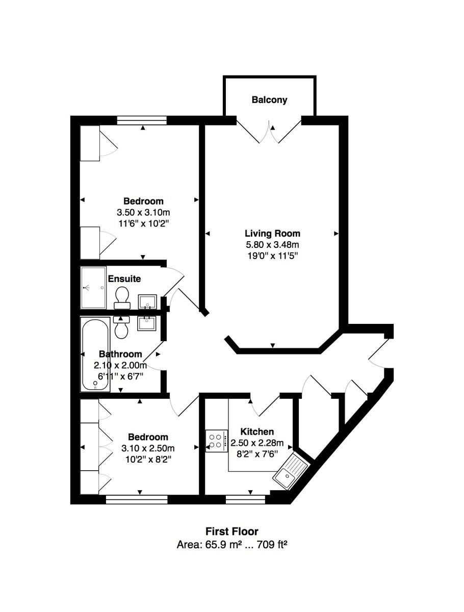 Hamilton Court, Brighton Marina Village floorplan