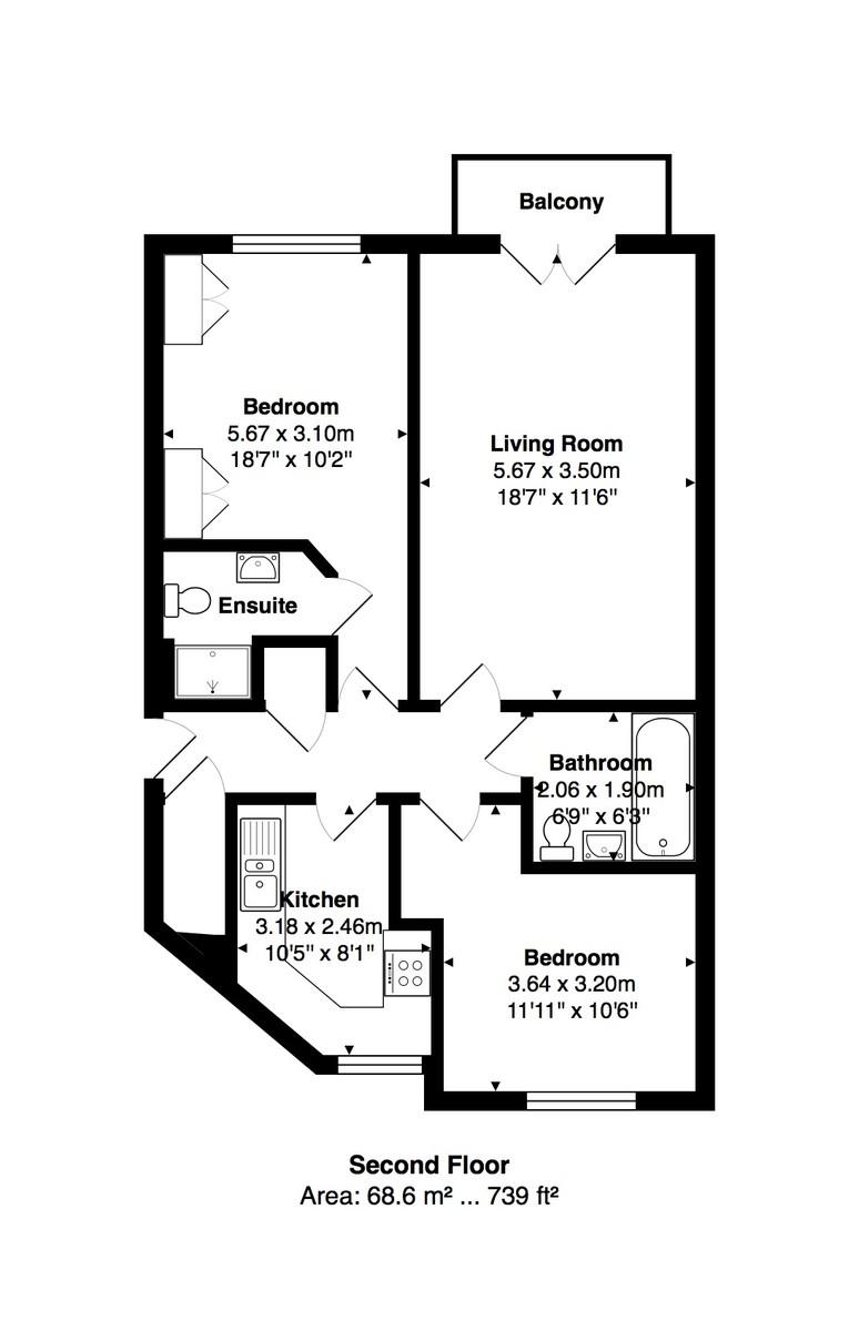 Collingwood Court, Brighton Marina Village, Brighton floorplan