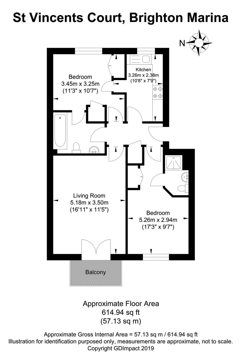 St Vincents Court, Brighton Marina Village floorplan