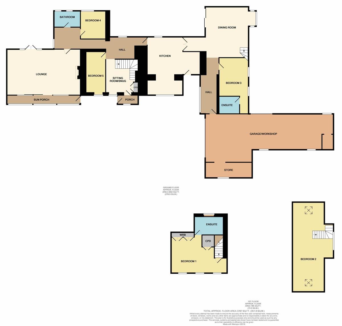 Carmel, Caernarfon, North Wales floorplan