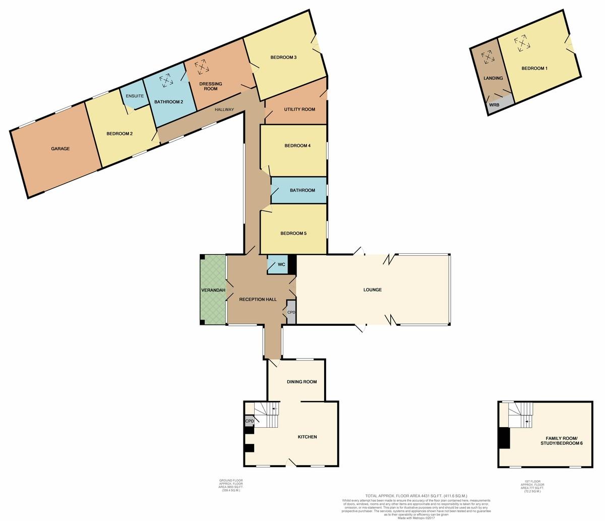 Lon Ganol, Llandegfan, Anglesey floorplan