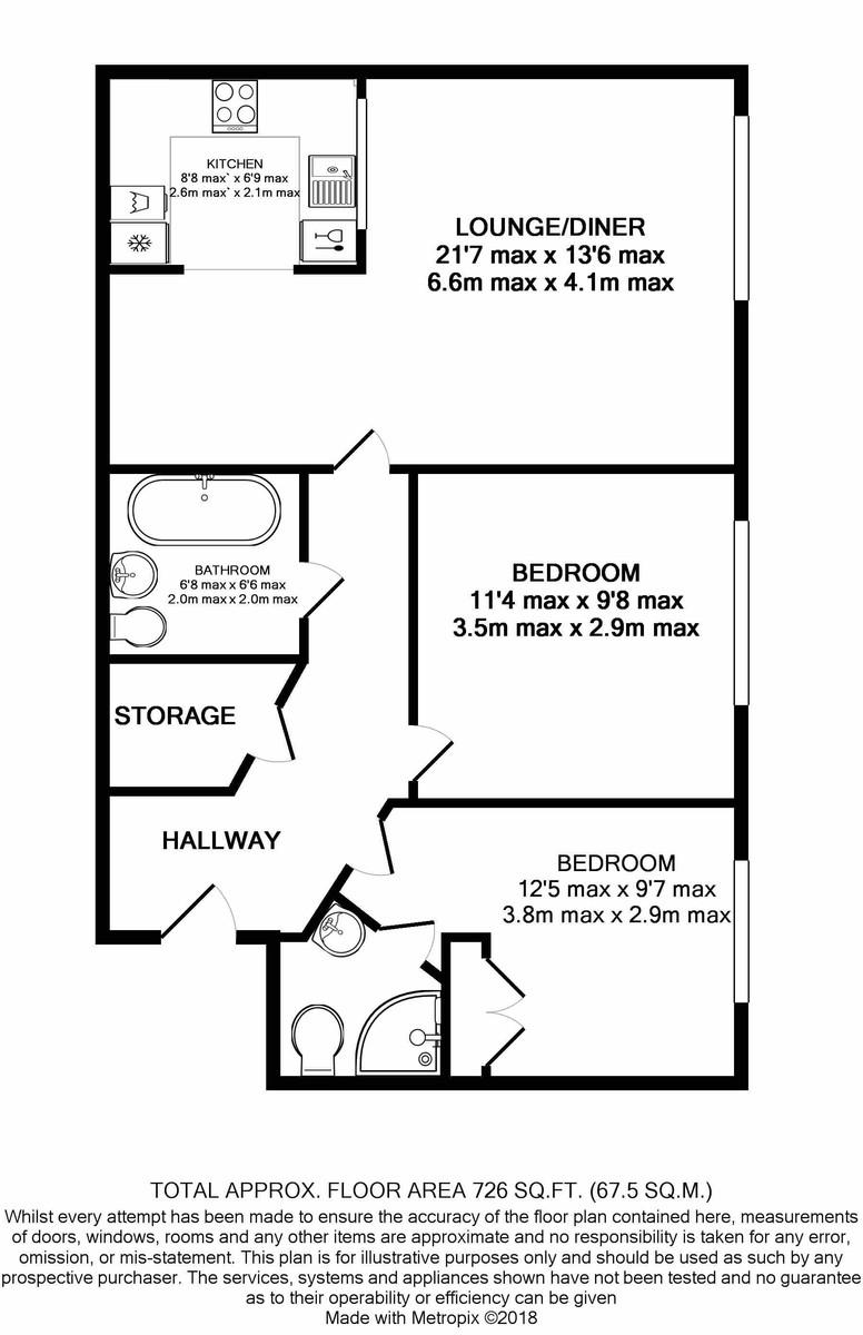 Maxim 28, Off St Pauls Square floorplan 1 of 1