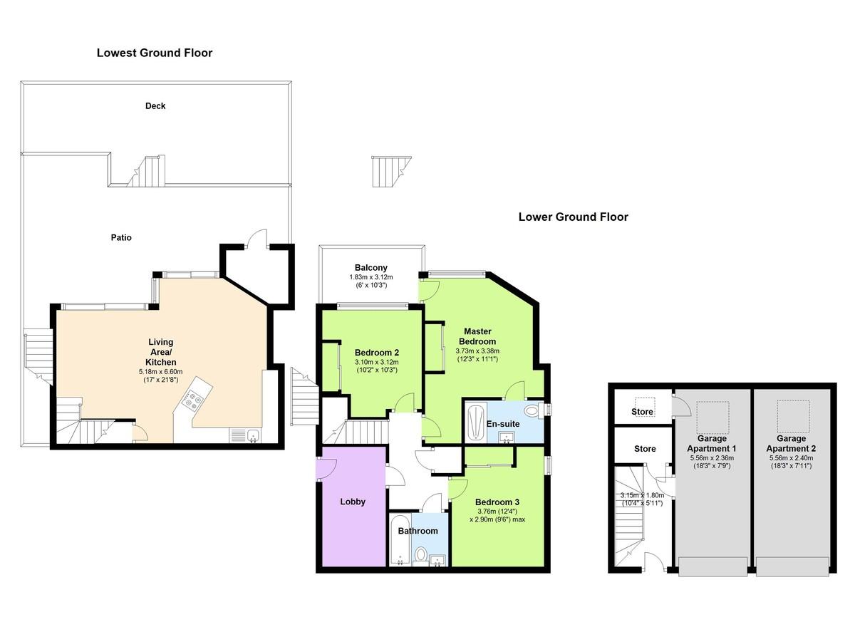 Oceana - Apt 2, Kingswear, Devon floorplan
