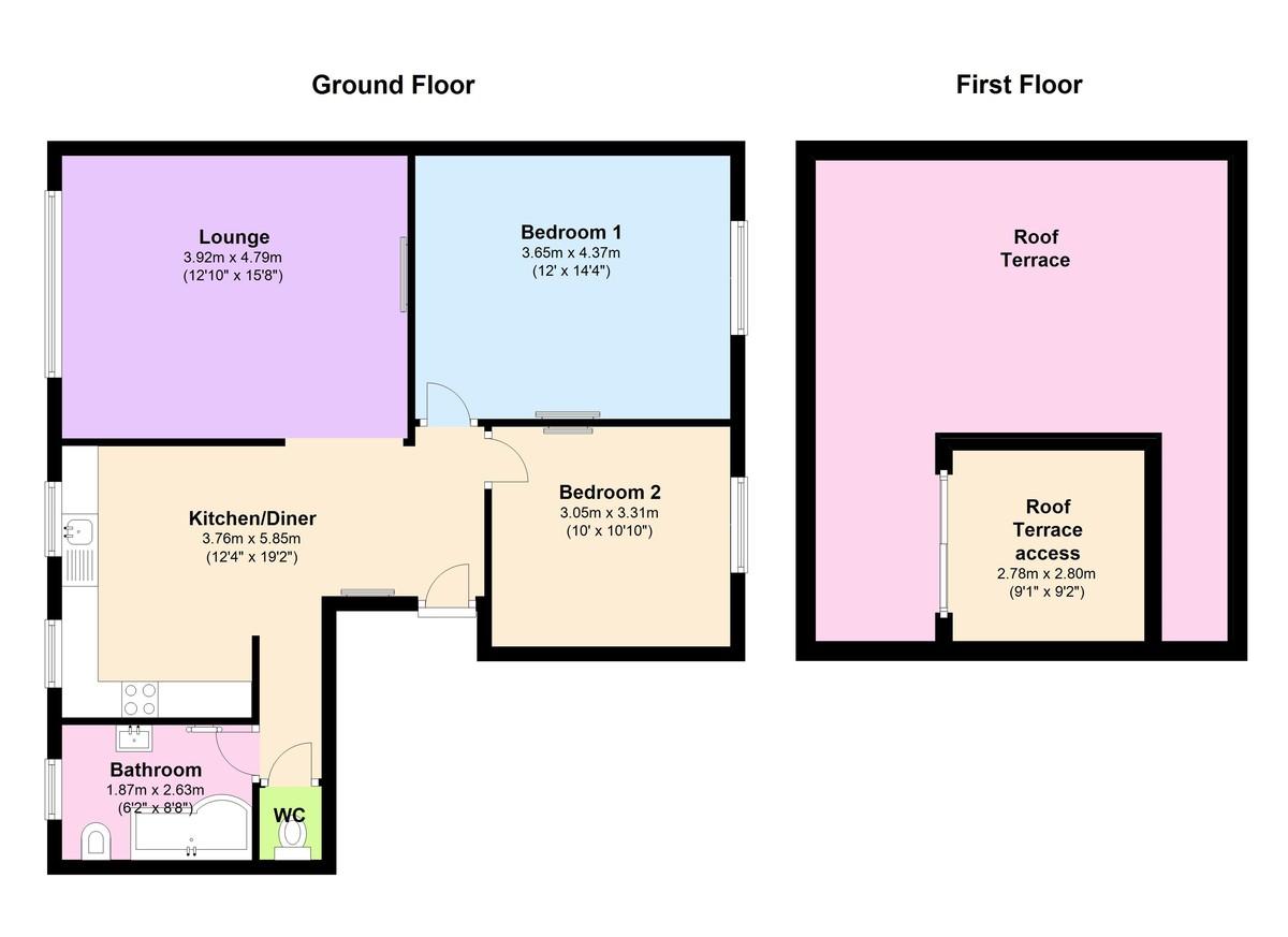 Flat 1 Nautilus, Kingswear, Devon floorplan