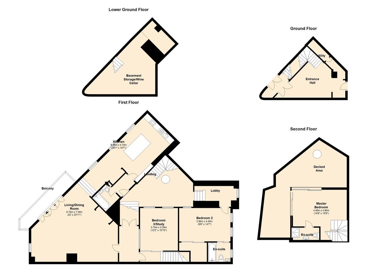 The Royal Dart House, Kingswear, Devon floorplan