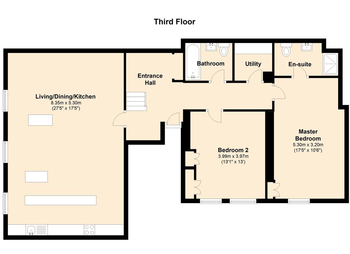 The Royal Dart Apartment 3, Kingswear, Devon floorplan