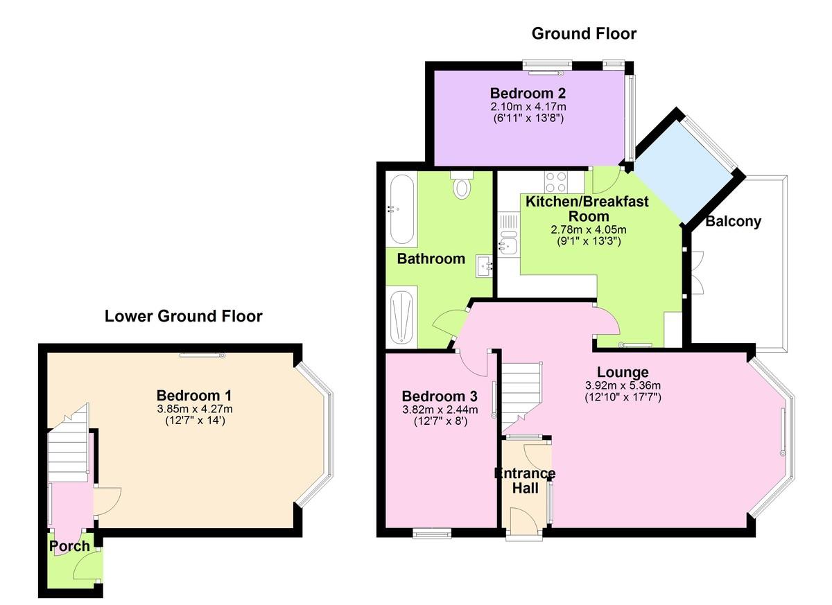 Castella, Kingswear, Devon floorplan
