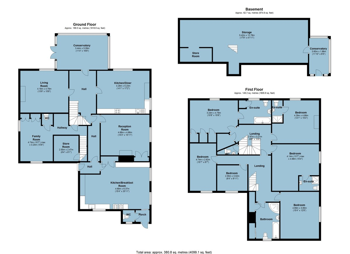 Landcombe House, Dartmouth, Devon floorplan