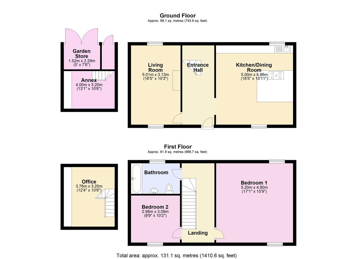 East Cornworthy, Totnes floorplan