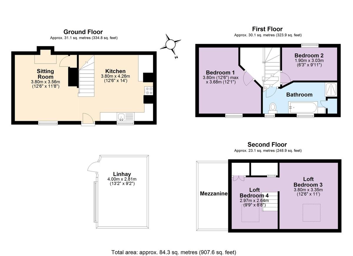 Capton, Dartmouth floorplan