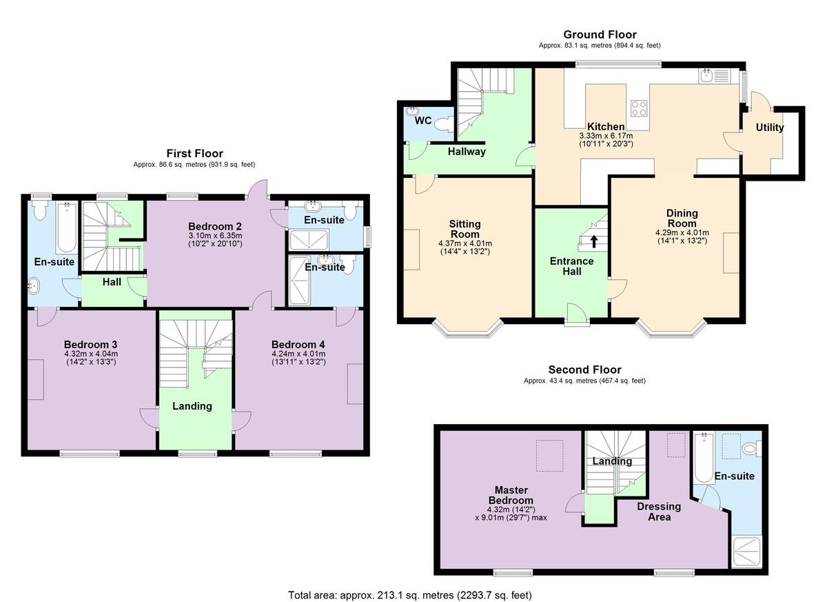 The Victorian House, Dartmouth, Devon floorplan
