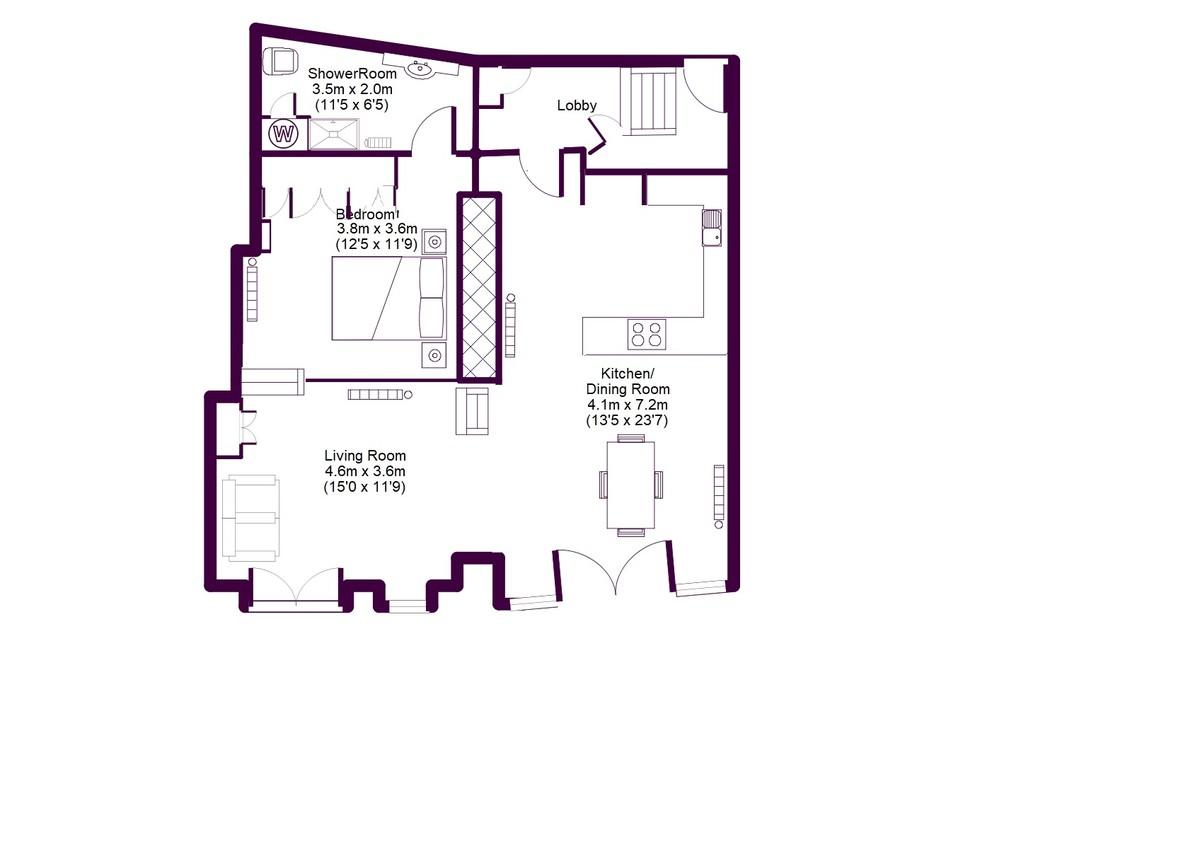 3 Coombe View, Lower Contour Road, Kingswear, Devon floorplan